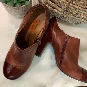 Miz Mooz 1920's Style Burgundy Leather Booties